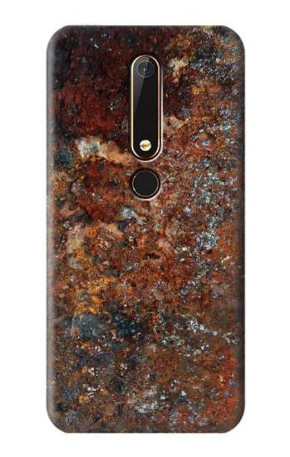 S2714 Rust Steel Texture Graphic Printed Case For Nokia 6.1, Nokia 6 2018