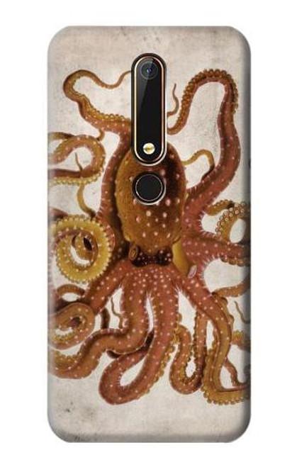 S2801 Vintage Octopus Case For Nokia 6.1, Nokia 6 2018