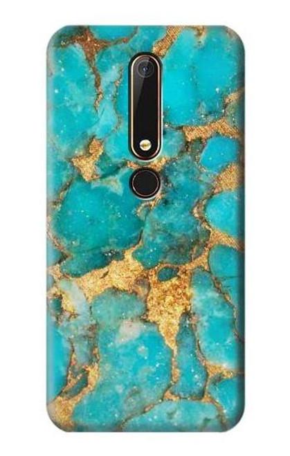 S2906 Aqua Turquoise Stone Case For Nokia 6.1, Nokia 6 2018