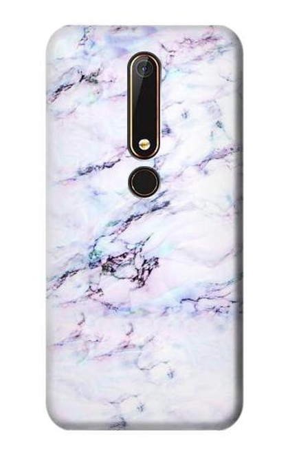 S3215 Seamless Pink Marble Case For Nokia 6.1, Nokia 6 2018