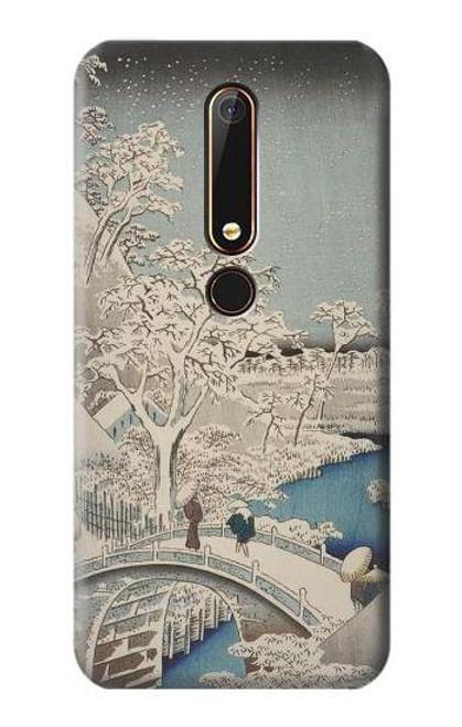 S3350 Utagawa Hiroshige Drum Bridge Yuhi Hill in Meguro Case For Nokia 6.1, Nokia 6 2018