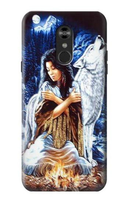 S0147 Grim Wolf Indian Girl Case For LG Q Stylo 4, LG Q Stylus