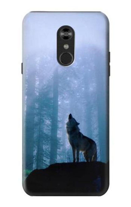 S0935 Wolf Howling in Forest Case For LG Q Stylo 4, LG Q Stylus