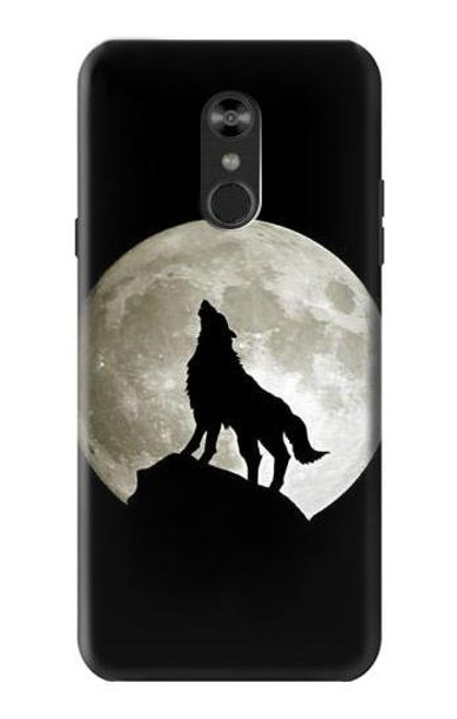 S1981 Wolf Howling at The Moon Case For LG Q Stylo 4, LG Q Stylus