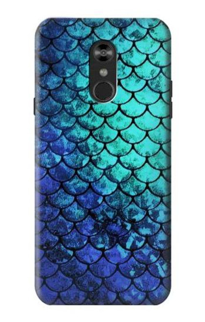 S3047 Green Mermaid Fish Scale Case For LG Q Stylo 4, LG Q Stylus