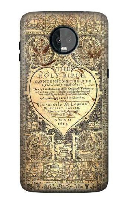 S0330 Bible Page Case For Motorola Moto Z3, Z3 Play
