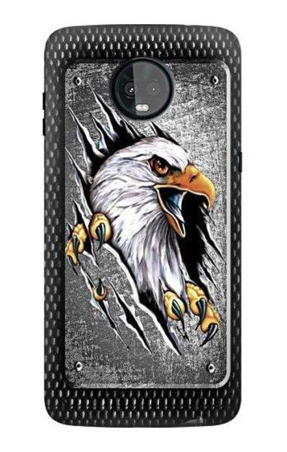 S0855 Eagle Metal Case For Motorola Moto Z3, Z3 Play