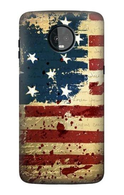 S2349 Old American Flag Case For Motorola Moto Z3, Z3 Play