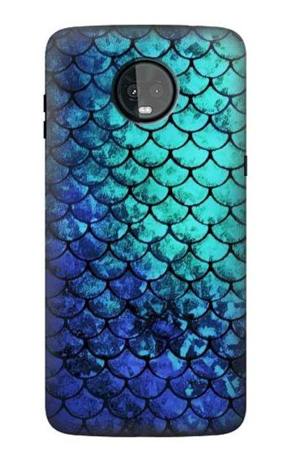 S3047 Green Mermaid Fish Scale Case For Motorola Moto Z3, Z3 Play