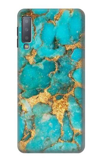 S2906 Aqua Turquoise Stone Case For Samsung Galaxy A7 (2018)