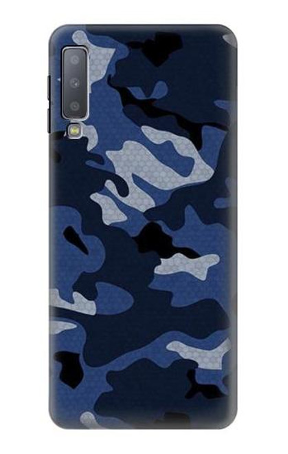 S2959 Navy Blue Camo Camouflage Case For Samsung Galaxy A7 (2018)