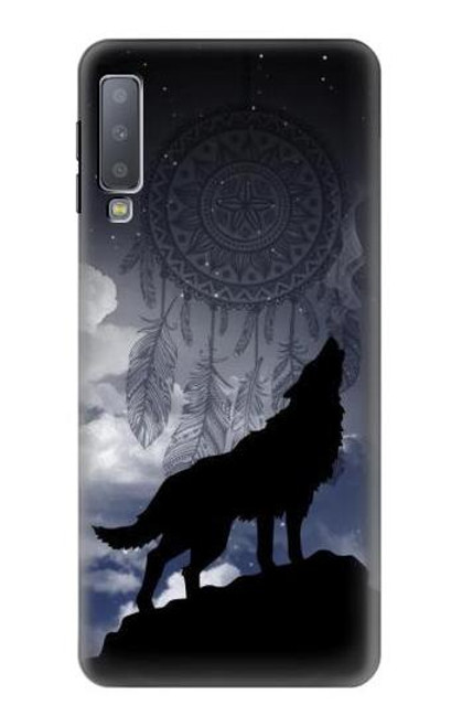 S3011 Dream Catcher Wolf Howling Case For Samsung Galaxy A7 (2018)