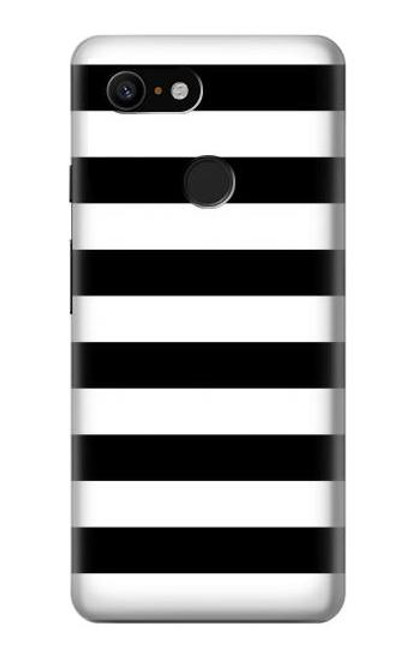 S1596 Black and White Striped Case For Google Pixel 3
