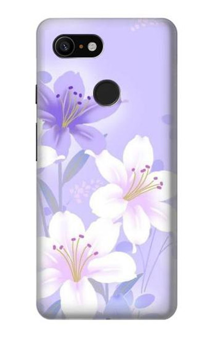 S2361 Purple White Flowers Case For Google Pixel 3
