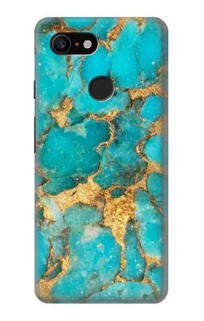 S2906 Aqua Turquoise Stone Case For Google Pixel 3