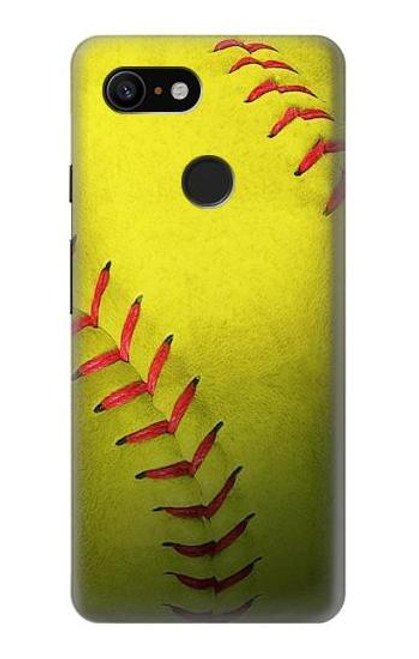S3031 Yellow Softball Ball Case For Google Pixel 3