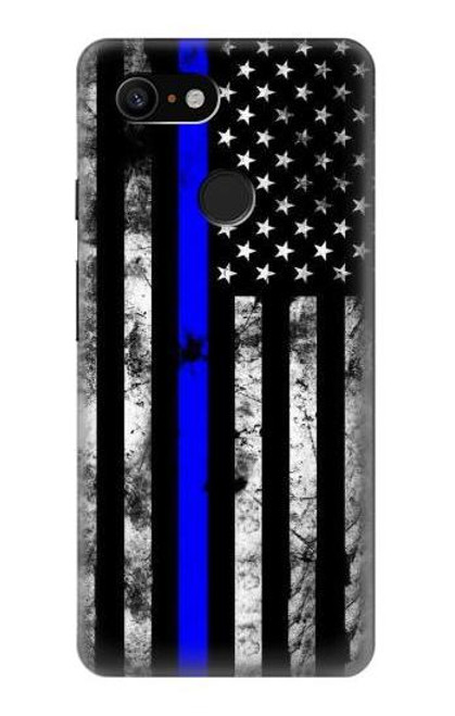 S3244 Thin Blue Line USA Case For Google Pixel 3