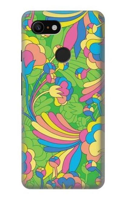 S3273 Flower Line Art Pattern Case For Google Pixel 3