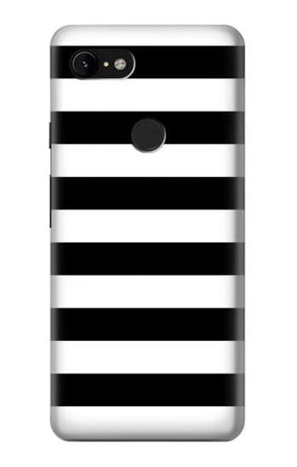 S1596 Black and White Striped Case For Google Pixel 3 XL
