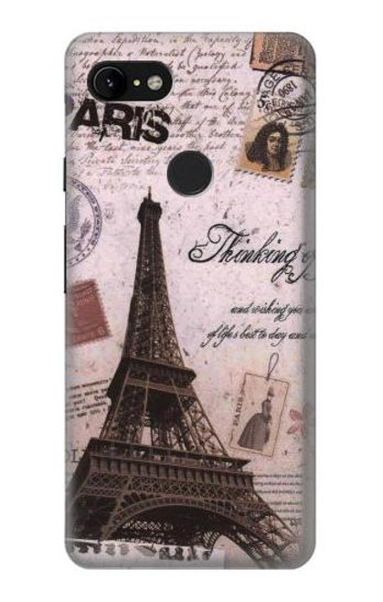 S2211 Paris Postcard Eiffel Tower Case For Google Pixel 3 XL