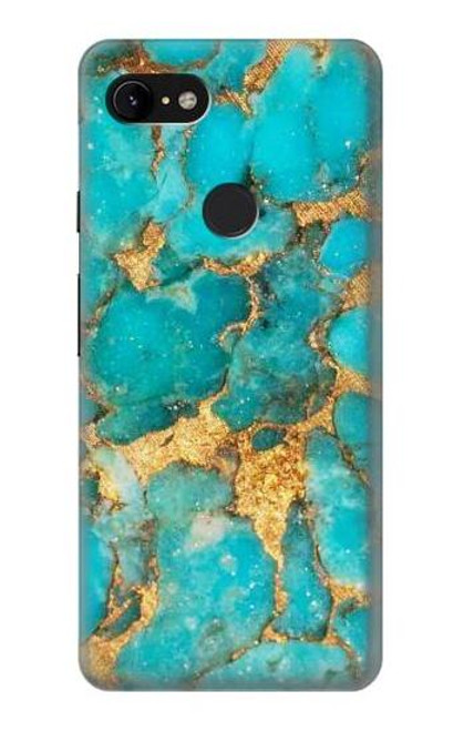 S2906 Aqua Turquoise Stone Case For Google Pixel 3 XL