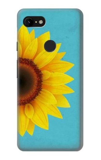 S3039 Vintage Sunflower Blue Case For Google Pixel 3 XL