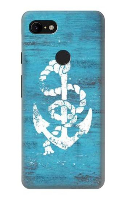S3053 Marine Anchor Blue Case For Google Pixel 3 XL