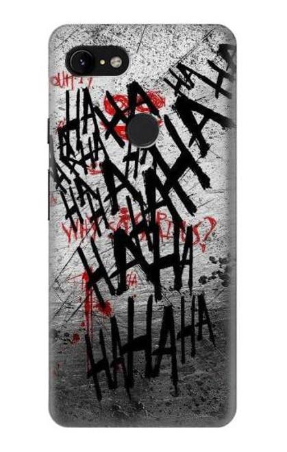 S3073 Joker Hahaha Blood Splash Case For Google Pixel 3 XL