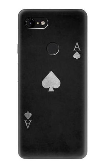 S3152 Black Ace of Spade Case For Google Pixel 3 XL