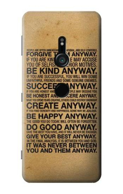 S2513 Mother Teresa Anyway Quotes Case For Sony Xperia XZ3