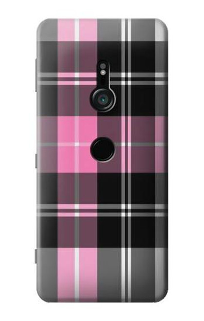 S3091 Pink Plaid Pattern Case For Sony Xperia XZ3