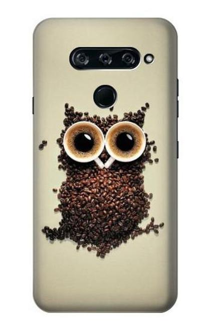 S0360 Coffee Owl Case For LG V40, LG V40 ThinQ