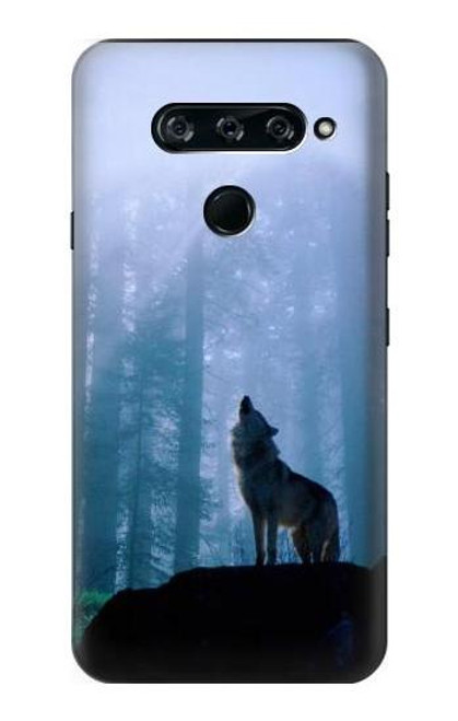 S0935 Wolf Howling in Forest Case For LG V40, LG V40 ThinQ
