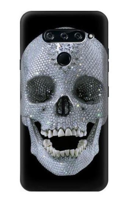 S1286 Diamond Skull Case For LG V40, LG V40 ThinQ