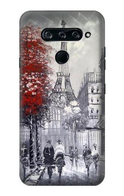 S1295 Eiffel Painting of Paris Case For LG V40, LG V40 ThinQ