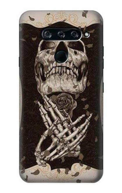 S1676 Skull Rose Case For LG V40, LG V40 ThinQ