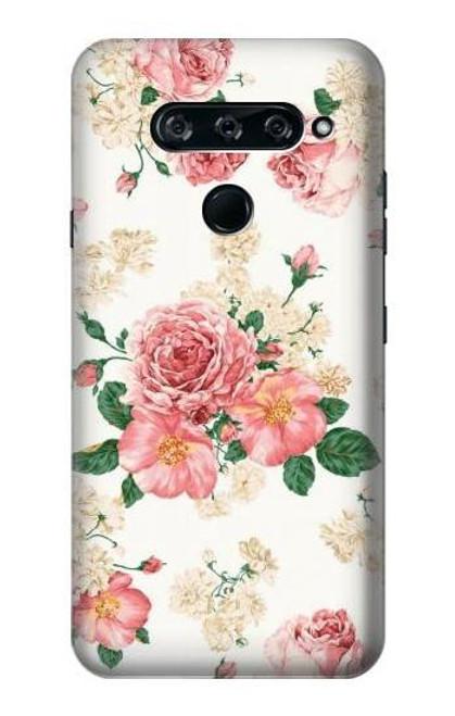 S1859 Rose Pattern Case For LG V40, LG V40 ThinQ
