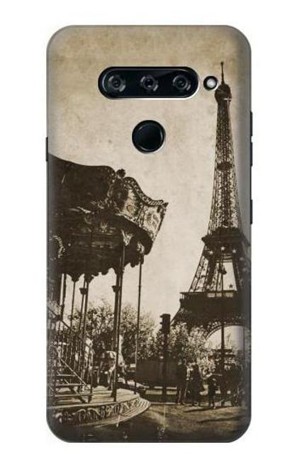 S2174 Eiffel Tower Vintage Paris Case For LG V40, LG V40 ThinQ