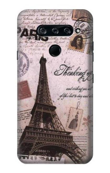S2211 Paris Postcard Eiffel Tower Case For LG V40, LG V40 ThinQ