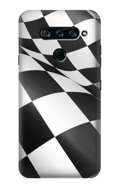 S2408 Checkered Winner Flag Case For LG V40, LG V40 ThinQ