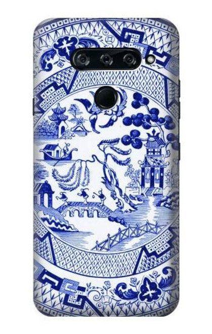 S2768 Willow Pattern Graphic Case For LG V40, LG V40 ThinQ