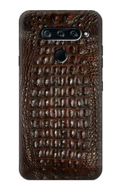 S2850 Brown Skin Alligator Graphic Printed Case For LG V40, LG V40 ThinQ
