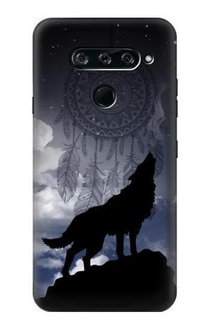 S3011 Dream Catcher Wolf Howling Case For LG V40, LG V40 ThinQ