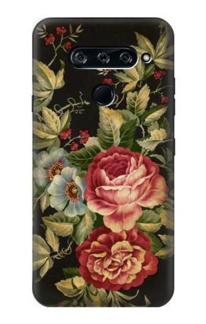 S3013 Vintage Antique Roses Case For LG V40, LG V40 ThinQ