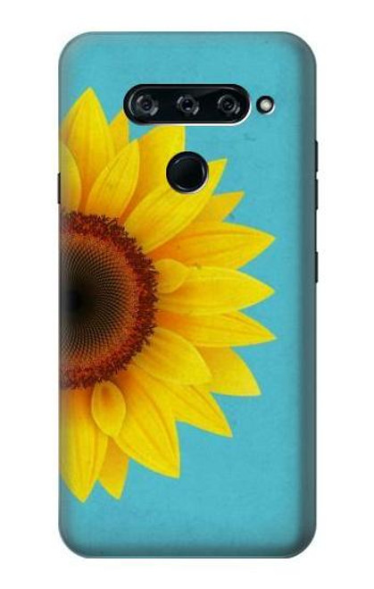 S3039 Vintage Sunflower Blue Case For LG V40, LG V40 ThinQ