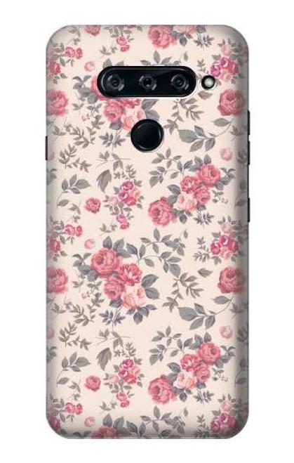 S3095 Vintage Rose Pattern Case For LG V40, LG V40 ThinQ