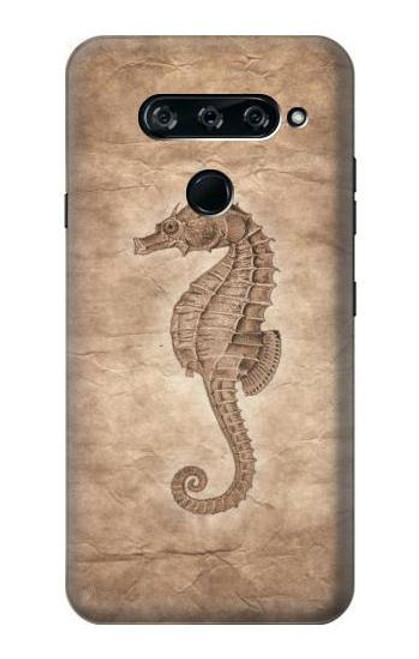 S3214 Seahorse Skeleton Fossil Case For LG V40, LG V40 ThinQ