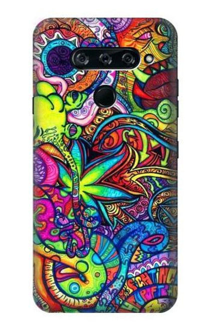 S3255 Colorful Art Pattern Case For LG V40, LG V40 ThinQ