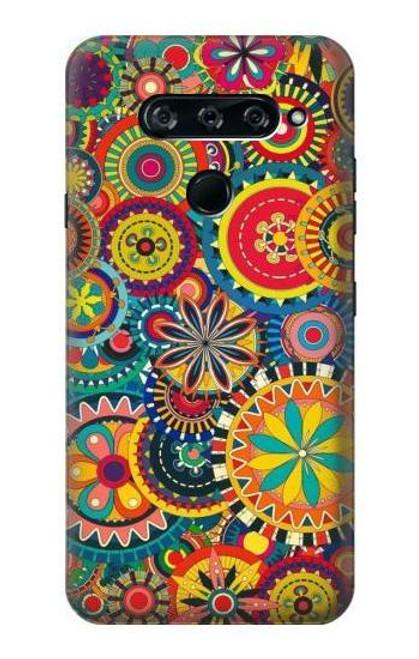 S3272 Colorful Pattern Case For LG V40, LG V40 ThinQ
