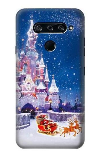 S3282 Santa Xmas Castle Case For LG V40, LG V40 ThinQ